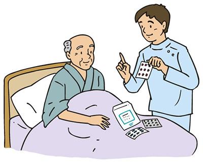 老人ホームイメージ画像薬