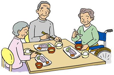 老人ホームイメージ画像 食事