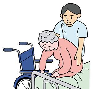老人ホーム 車いす補助