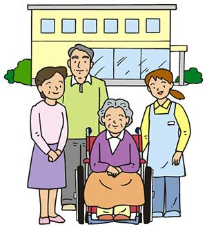 老人ホーム 家族で面会