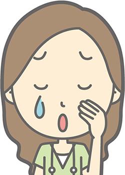 壮絶な介護で泣く