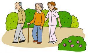 老人ホームイメージ画像散歩