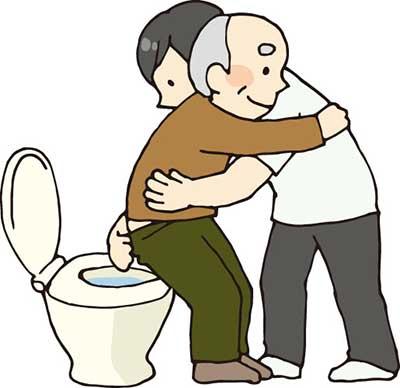 夜間のトイレ介助