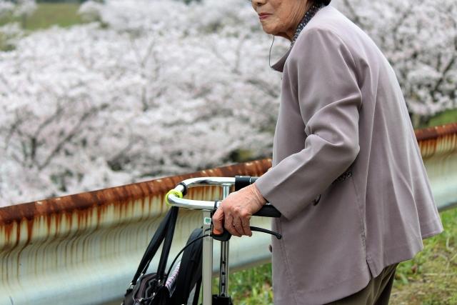 高齢者の散歩